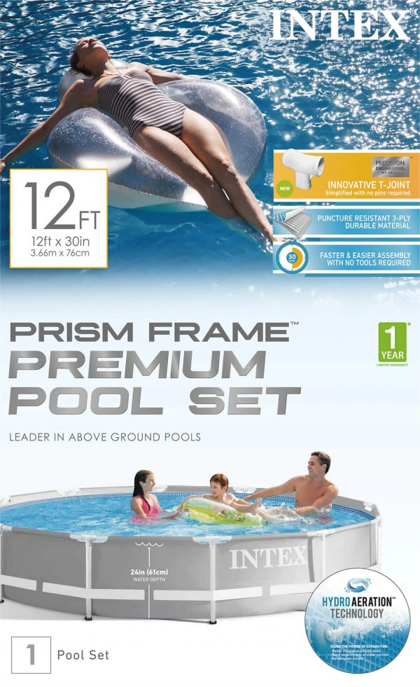 Set de Piscina: Intex® Prism Frame ™ 12ft x 30in