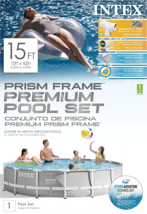 Set de Piscina: Intex® Prism Frame ™ 15ft x 42in