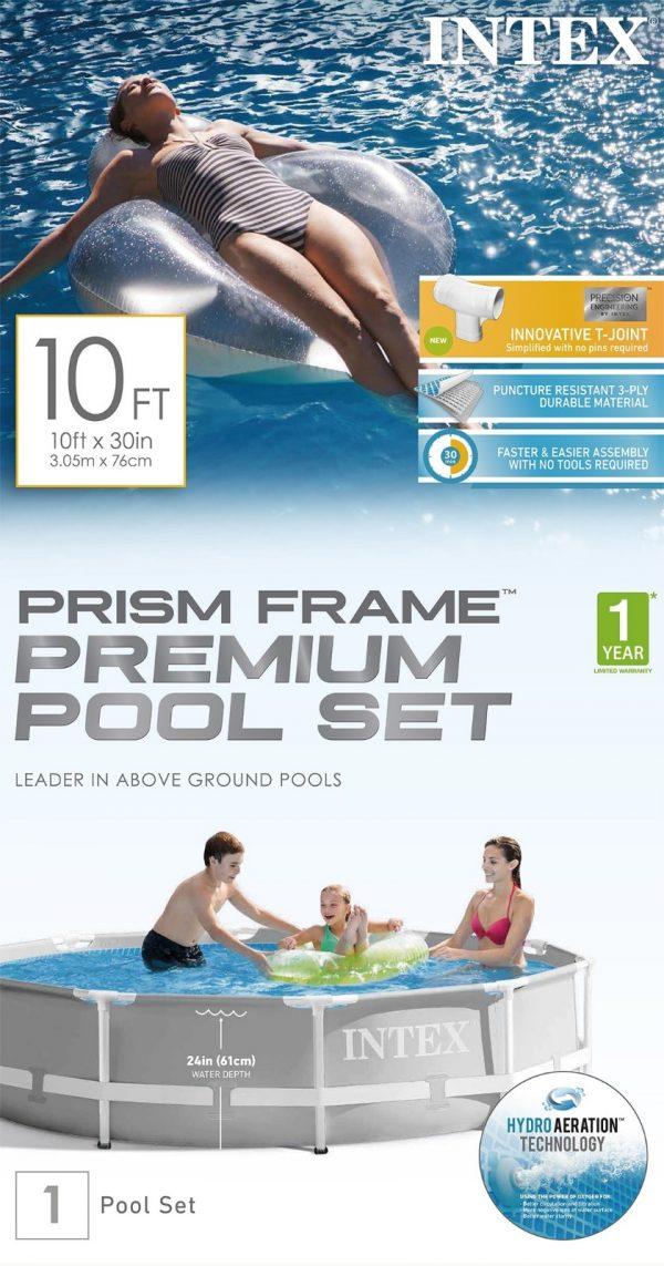 Set de Piscina: Intex® Prism Frame ™ de 10 pies x 30 pulgadas