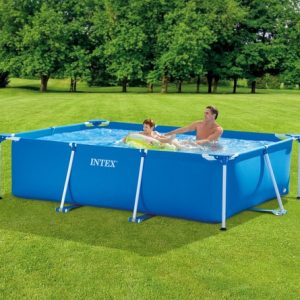 Set de Piscina: Rectangular de 8ft 6in x 5ft 3in x 25.5in Metal Frame