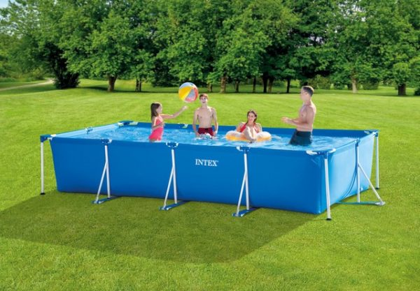 Set de Piscina: Rectangular de 14ft 9in x 7ft 3in x 33in Metal Frame